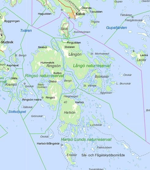 Sävö med omkringliggande öar i Bälinge skärgård