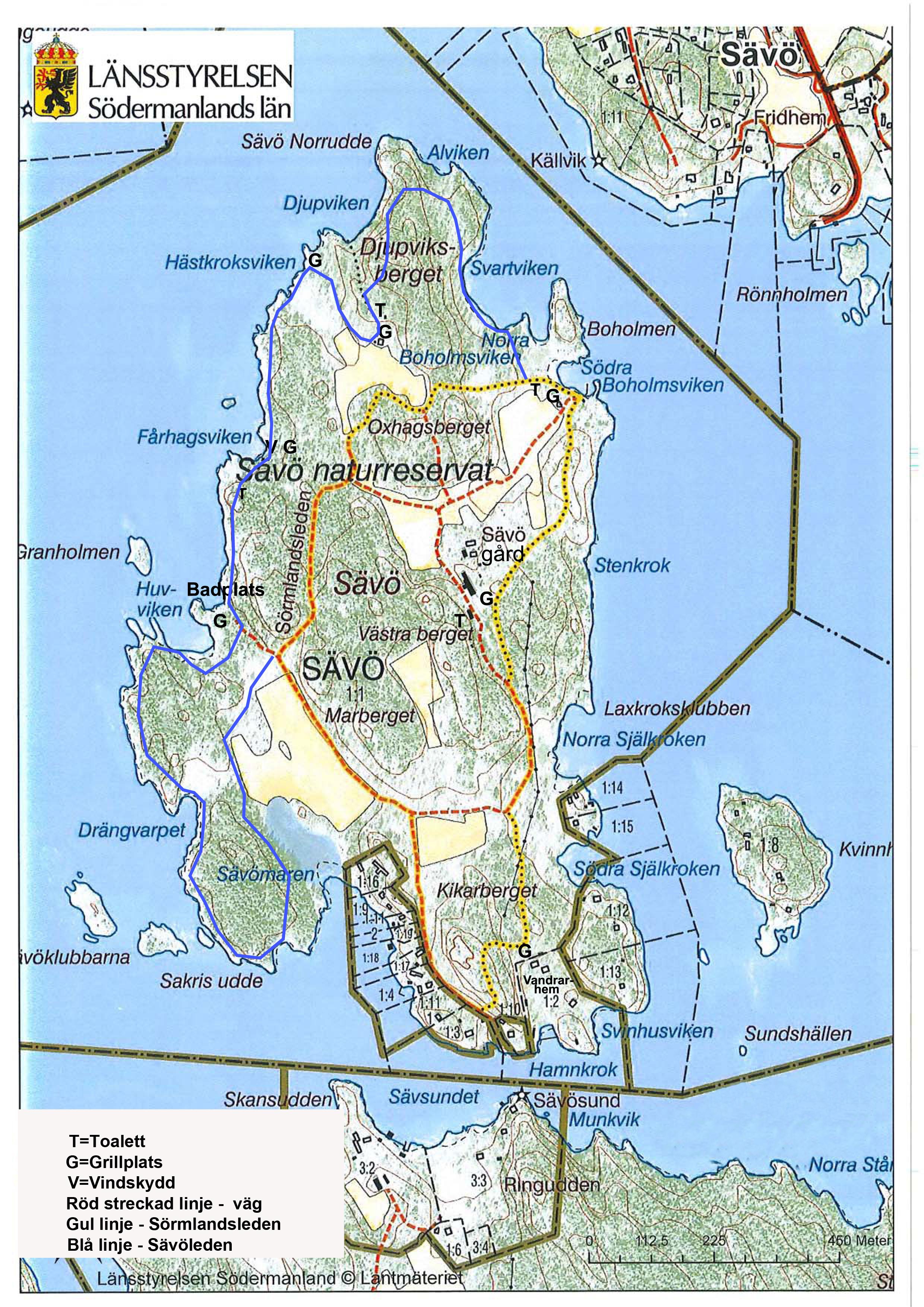 Karta över Sävö