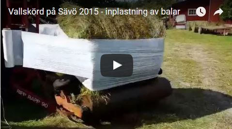 A machine for wrapping the bales with plastic