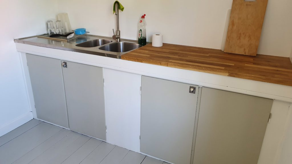 Kitchen - the sink and a bench